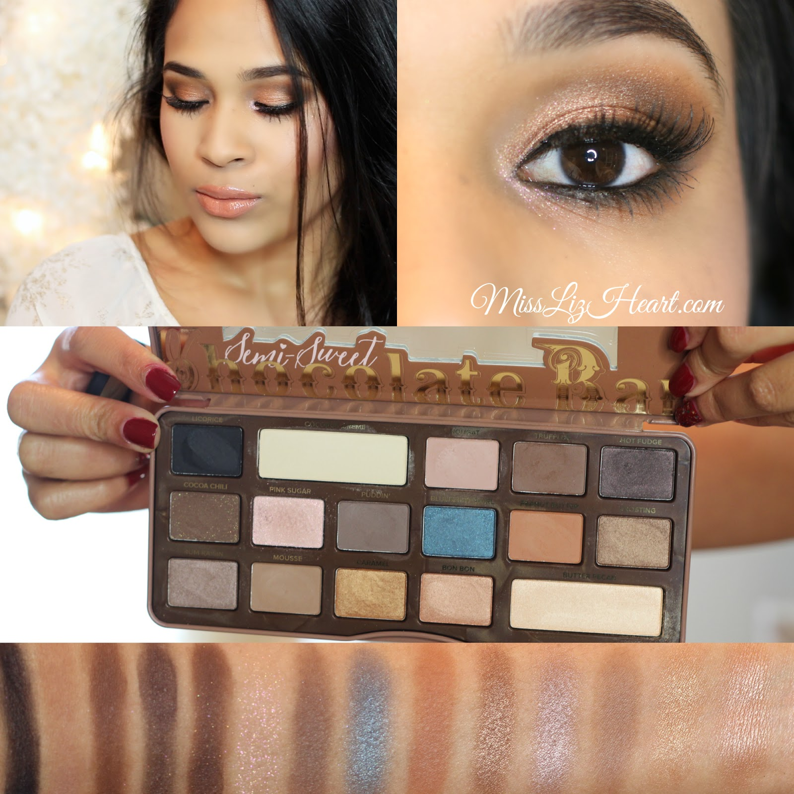 chocolate bar eye palette tutorial