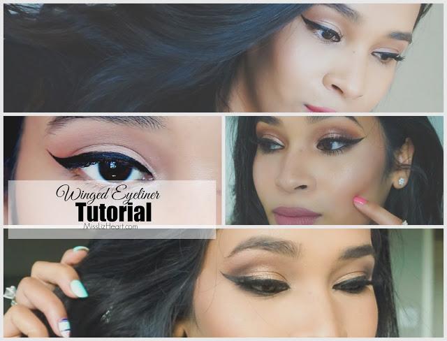 Winged Eyeliner Tutorial For Hooded Eyes Video Miss Liz Heart