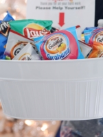 Delivery Holiday Snack Bin